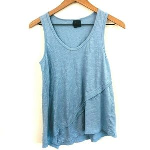 Left of Center Anthropologie Asymmetrical Tank Top
